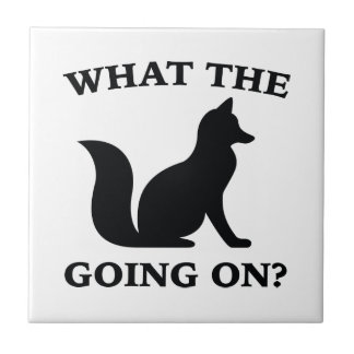 What The Fox Going On? Small Square Tile