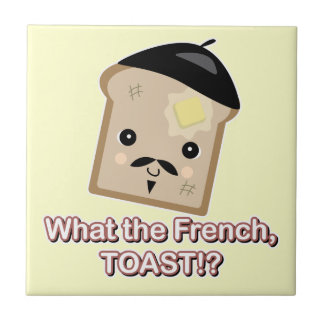 what the french toast cute kawaii toast cartoon small square tile