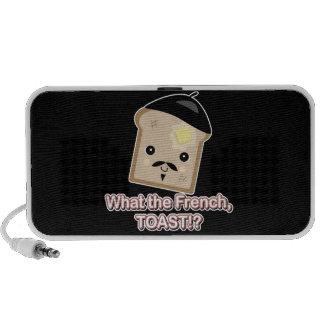 what the french toast cute kawaii toast cartoon travel speakers