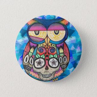 What the hoot? 6 cm round badge