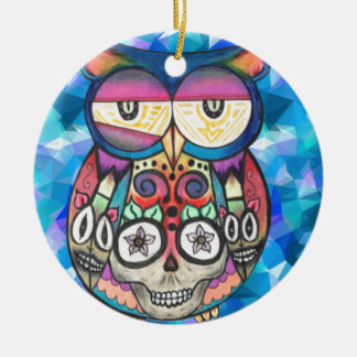 What the hoot? ceramic ornament
