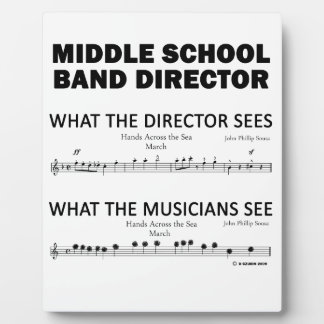 What the Middle School Band Sees Plaques