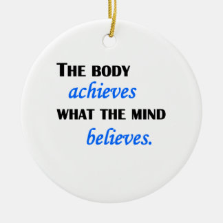What The Mind Believes Round Ceramic Decoration