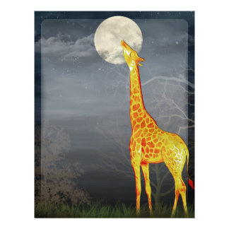 What the moon tastes like? Giraffe and Moon -Flyer 21.5 Cm X 28 Cm Flyer