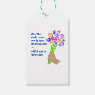 What the world needs now gift tags