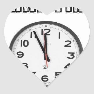 what time is it, clock heart sticker