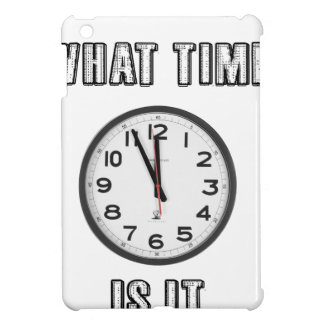 what time is it, clock iPad mini case