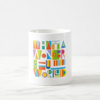 What to Wonderful World Basic White Mug