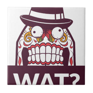 what wat scary teeth design small square tile