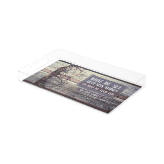 What We See Acrylic Tray