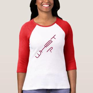 'What?' Women's 3/4 Sleeve Raglan T-Shirt