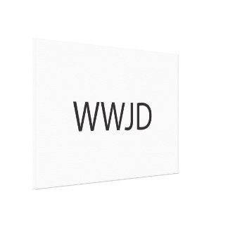 What Would Jesus Do ai Stretched Canvas Prints