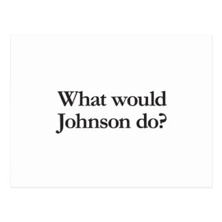 what would johnson do postcard