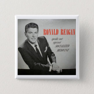 What would Reagan do? 15 Cm Square Badge