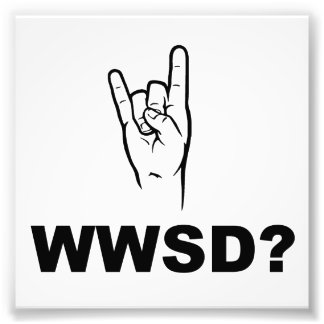 What Would Satan Do?  WWSD? Photographic Print