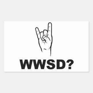 What Would Satan Do WWSD Rectangular Stickers