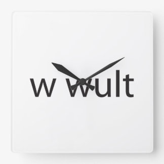 what would you like to talk about ai square wall clock