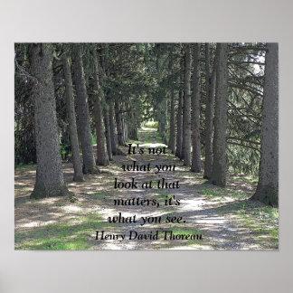 What you see -- Art print - Henry David Thoreau