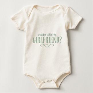 Whatchoo talkin bout girlfriend baby bodysuit