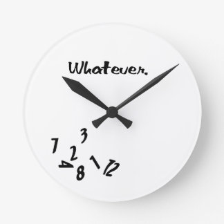 Whatever Round Wall Clocks
