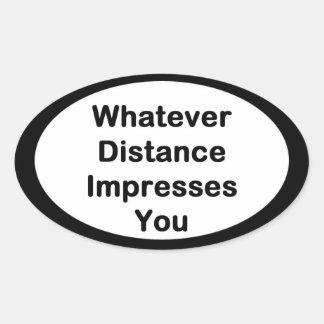 Whatever Distance Running Sticker