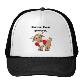 Whatever Floats your Goat Life Preserver Cartoon Mesh Hat
