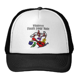 Whatever Floats your Note Design Cap