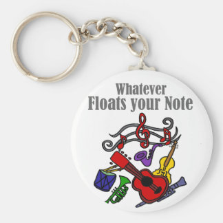 Whatever Floats your Note Design Key Ring