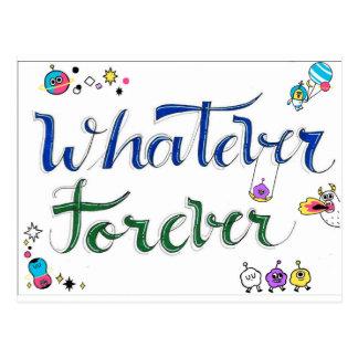 Whatever Forever Postcard