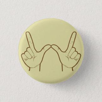 Whatever Hand Sign Retro Flair 3 Cm Round Badge