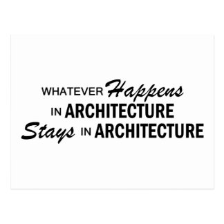 Whatever Happens - Architecture Postcard