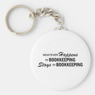Whatever Happens -  Bookkeeping Basic Round Button Key Ring
