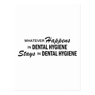 Whatever Happens - Dental Hygiene Postcard