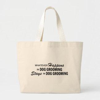 Whatever Happens - Dog Grooming Jumbo Tote Bag