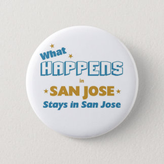 Whatever happens in San Jose 6 Cm Round Badge