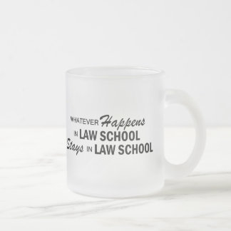 Whatever Happens - Law School Frosted Glass Coffee Mug