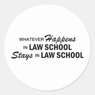 Whatever Happens - Law School Round Sticker
