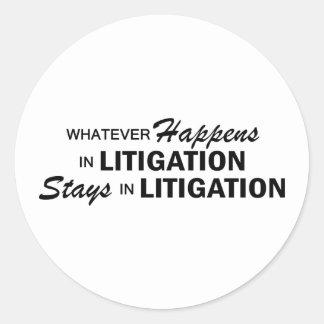 Whatever Happens - Litigation Round Sticker