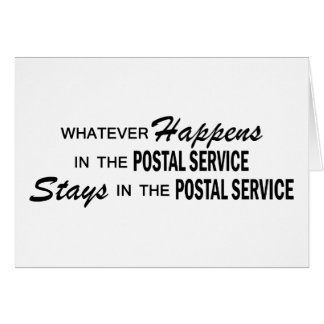 Whatever Happens - Postal Service Greeting Card