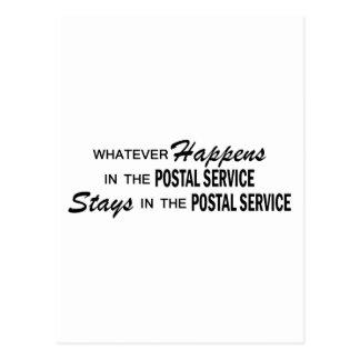 Whatever Happens - Postal Service Postcard