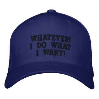 Whatever hat embroidered baseball caps