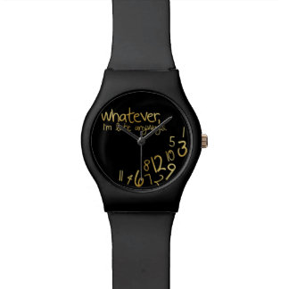 Whatever I m late anyways - black gold Wrist Watch