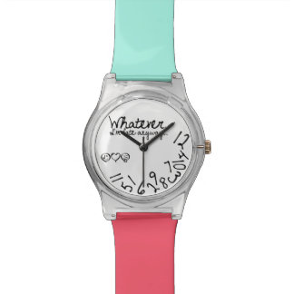 Whatever, I'm late anyway - Teal and Pink bands Watch