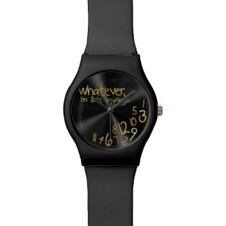 Whatever, I'm late anyways - black & gold Wrist Watch