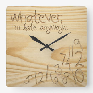 """whatever, I'm late anyways. Engrave Wood """"look"""" Clock"""