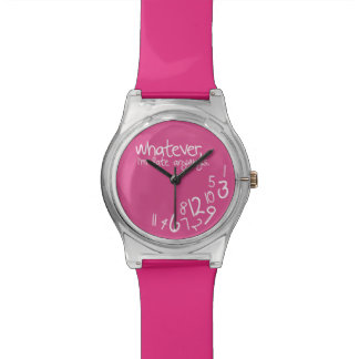 Whatever, I'm late anyways - Pink Wrist Watch