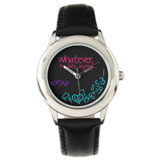 whatever, I'm late anyways - purple, pink and aqua Watch