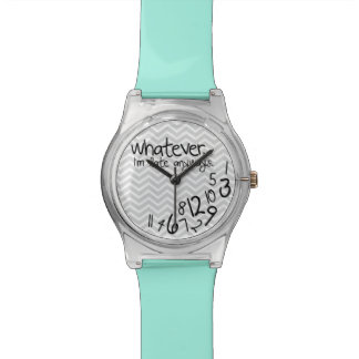 Whatever, I'm late anyways - Teal Blue and Gray Watch