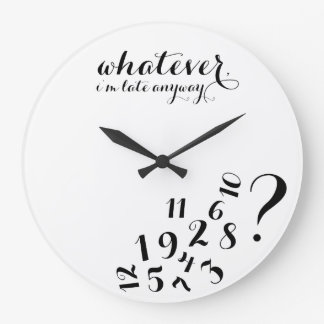Whatever, I'm late anyways... Wallclock