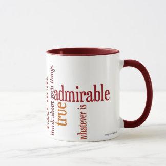 """Whatever Is"" Mug: Philippians 4:8 Mug"